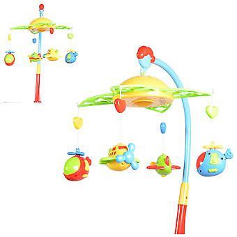 Moni Musikmobile 81005, roterbar mobil, med leksaker, musik och ljusfunktion