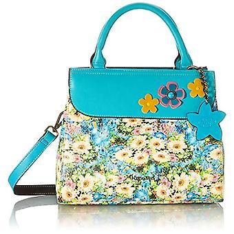 Laura Vita 4130, Shoulder strap, Bag with Handle. Woman, Turquoise, Medium