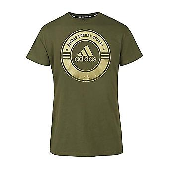 adidas Community Line, Unisex-Erwachsene T-Shirt, Grün/Gold, S