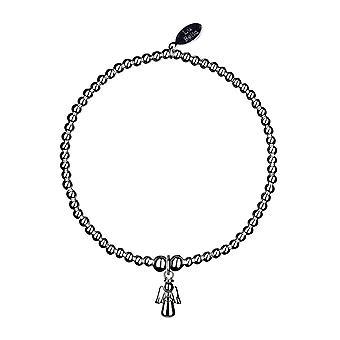 Mini Angel Stacking Bracelet - 17.5cm - Argent - Bijoux Cadeaux pour Femmes de Lu Bella