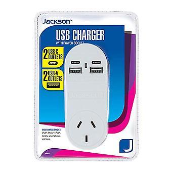 Jackson 1 Way 4 Usb Charger