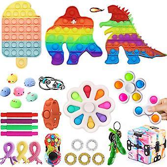 Aisti fidget lelut asettaa kupla pop stressiä helpotus lapsille aikuiset Z227