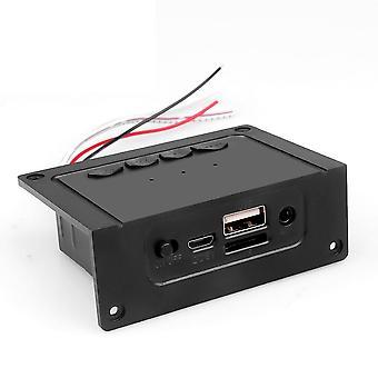 Bluetooth Receiver Car Kit Mp3 Player Decoder Board 2*5w Amplifier For Speaker