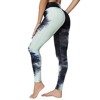 L černé vysoké pas jógové kalhoty cvičení sportovní bříško ovládání legíny 3 cesta úsek máslové měkké x2066