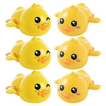 9.5X5.5x5.5cm yellow 6pcs bathing duck toys interesting kids shower toys creative clockwork bath toys dt3250