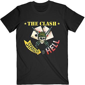 The Clash - T-shirt unisex grande unisex singolo dritto all'inferno - Nero