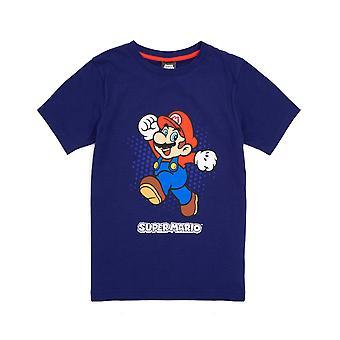 Nintendo Super Mario T Shirt Pentru Boys | Copii Gamer Blue Short Sleeve Top | Joc îmbrăcăminte Marfa