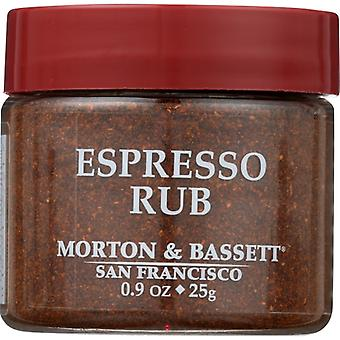 Morton & Bassett Seasoning Espresso Rub, Case of 3 X 0.9 Oz