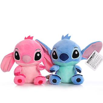 2 stuks stitch cartoon figuur roze blauwe zachte pop meisje pluche speelgoed