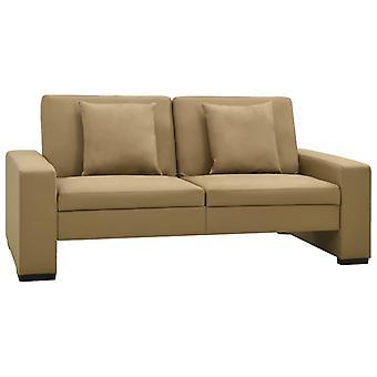 vidaXL sofa bed cappuccino-brown imitation leather
