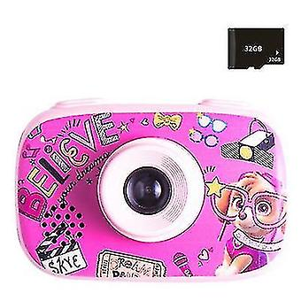 1080P detský digitálny fotoaparát, HD detský fotoaparát (Ružová)