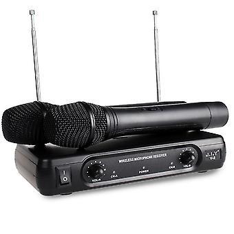 Karaokejärjestelmät kädessä pidettävä langaton karaokemikrofonin kaikumikserijärjestelmä