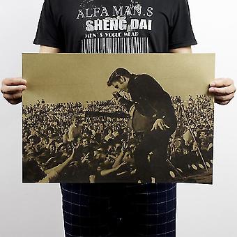 Nostalgische Rock Star Elvis Presley Vintage Classic Poster