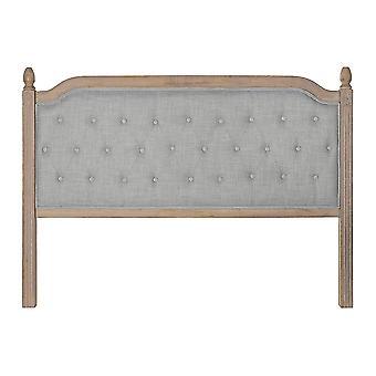 Kopfteil DKD Home Decor Grau Leinen Gummi Holz (160 x 10 x 120 cm)