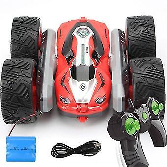 Gratis dropshipping 360 graden flip kinderen robot rc auto's speelgoed voor geschenken rc auto 2.4g 4ch stunt drift