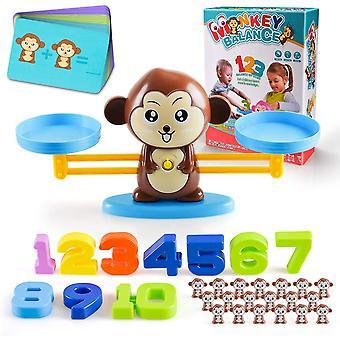 Koulutus matematiikka laskeminen lelut apina tasapaino
