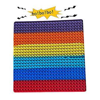 50 * 50cm Big Size Push Pop Fidget Jouet, Big Rainbow Pop 256 Bulles