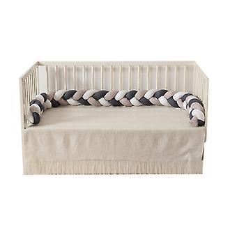 220cm الطفل مضفر سرير الوفير الملتوية محيط السرير عقدة شريط وسادة