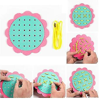 Diy Weave Cloth Montessori Bébé Éducation préscolaire Jouets Aides pédagogiques Math Jouets