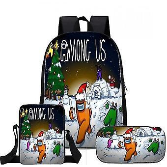 Ensemble de 3 pièces, sac à dos, étui à crayons, sac à bandoulière, convient pour