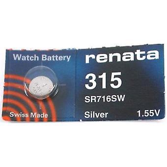 Renata Mercury Free Watch Battery 315 (SR716SW) - Pack of 10