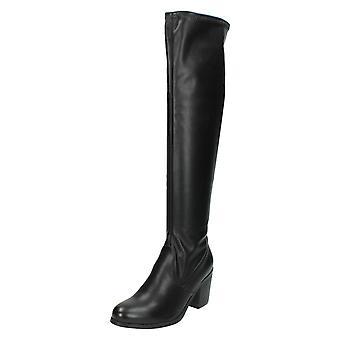 Damskie Spot na wysoki blok pięta kolano długość Boot F50352