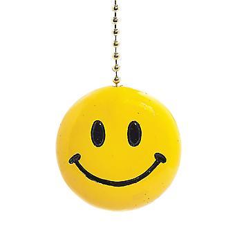 Luce soleggiata Smiley giallo iconico viso soffitto decorativo Fan tirare 3 dimensionale
