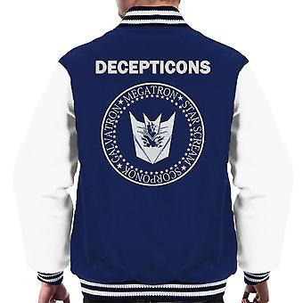 Varsity Jacket Transformers Decepticons Ramones Logo masculine