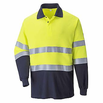 Portwest - Hi-Vis Sicherheit Workwear Flamme widerstehen Anti-Static TwoTone Polo Shirt