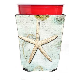 Carolines Treasures  SB3036RSC Starfish  Red Solo Cup Beverage Insulator Hugger