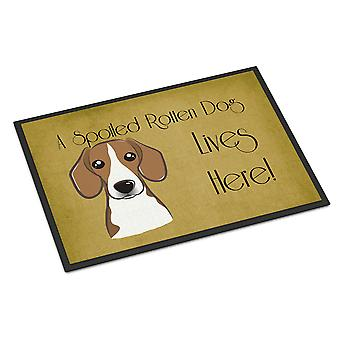 Beagle Spoiled Dog Lives Here Indoor or Outdoor Mat 24x36