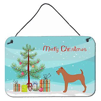 Irish Terrier Christmas Wall or Door Hanging Prints