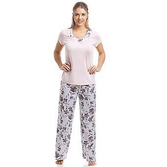 Ensemble de Pyjama Floral Camille Pink manches courtes