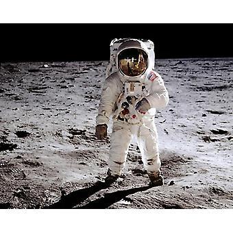 أبولو 11 رائد الفضاء ألدرين الطنانة عن طباعة الملصق 20 يوليه 1969 القمر بأرشيف صور مكمان (10 × 8)