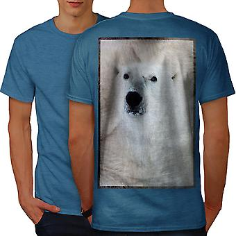 Polar Bear Nature Men Royal BlueT-shirt Back | Wellcoda