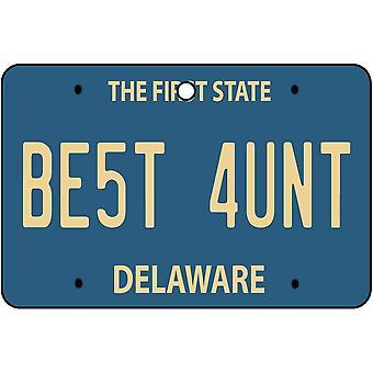 Delaware - Best Aunt License Plate Car Air Freshener