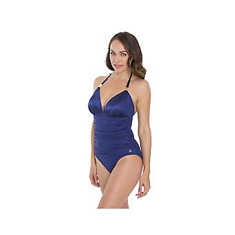 Seaspray SY006352A Women's Midnight Blue Solid Colour Costume One Piece Swimsuit