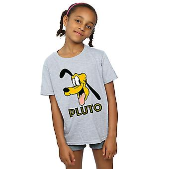 Disney Girls Pluto Face T-Shirt