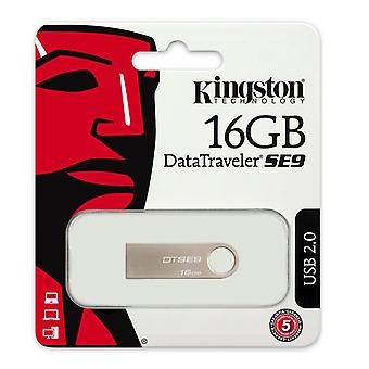 Kingston teknologi 16 GB USB 2.0 Data Traveler SE9H Opblussen Drive hos Metal kabinet