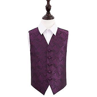 Lilla Paisley bryllup vest for gutter