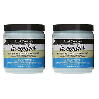 Aunt Jackie's in Control Anti - Poof Moisturizing & Softening Conditioner 15 oz. (Pack of 2)