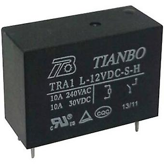 Tianbo Electronics TRA1 L-12VDC-S-H PCB relay 12 V DC 12 A 1 maker 1 pc(s)