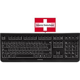 Clavier USB CHERRY KC 1000 Black Suisse, QWERTZ, Windows®
