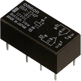 Omron G6A-274P-ST-US 12 VDC PCB relay 12 V DC 2 A 2 change-overs 1 pc(s)
