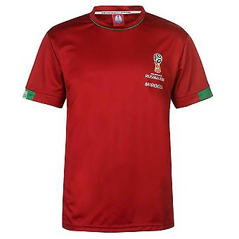 Marokko FIFA World Cup 2018 Poly T shirt Herre (Rød)