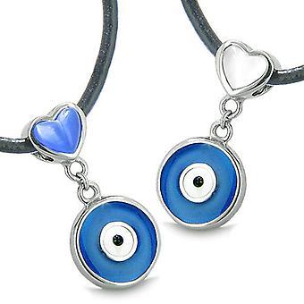 Taikakaluja pahan silmän suojelun hurmaa palautuva sydämet rakkaus pari tai parhaat ystävät kaulakorut
