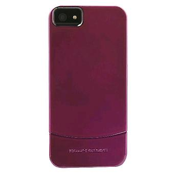 5 חבילה -גוף כפפה Vibe המחוון מקרה עבור אפל iPhone 5 (סגול)