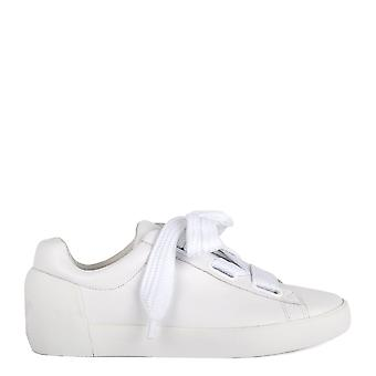 Ash NINA Trainers White Leather & Chunky Knit Lace