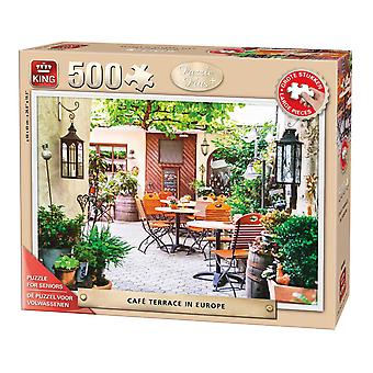 King Cafe Terrace In Europe Jigsaw Puzzle (500 XL Pieces)