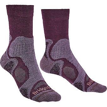 布里奇代尔妇女徒步旅行轻量级T2梅里诺步行袜子